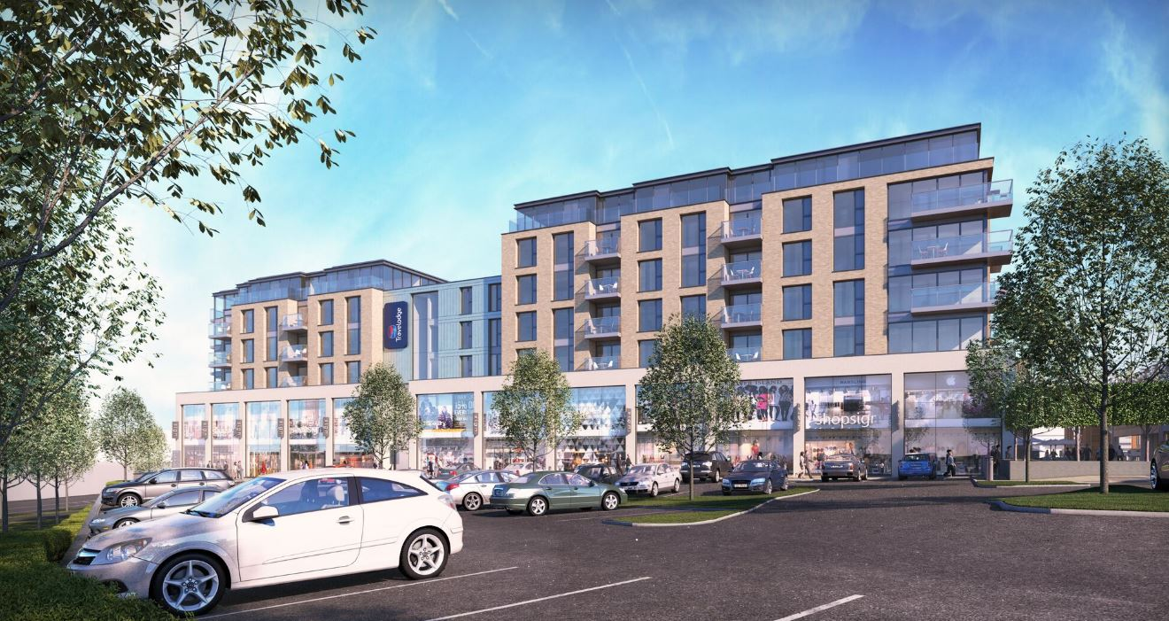 Travelodge and Retail at Burgess Hill Development